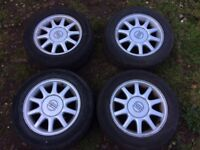 Volvo 940 Alloy wheels 5x108 with uniroyal rainexpert tyres