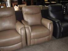 2 SEATER + 2 SINGLES ALL ELECTRIC RECLINERS 100% LEATHER CAMEL Thebarton West Torrens Area Preview