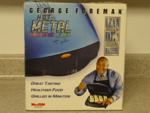 NEW!  -- GEORGE FOREMAN LEAN MEAN GRILLING MACHING
