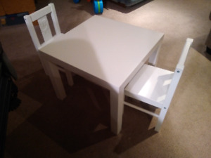 Ikea child's table with 2 chairs