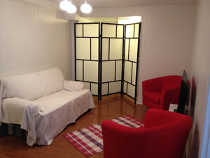 SPACIOUS BRIGHT FURNISHED BASEMENT APARTMENT-Bathurst and Finch