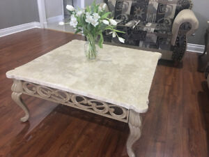 Marble Coffee Table & End Table