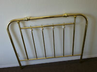 DOUBLE BRASS AND PORSILEN HEAD BOARD AND CAST IRON FRAME
