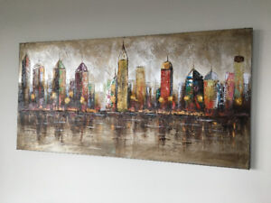 Beautiful city scape painting