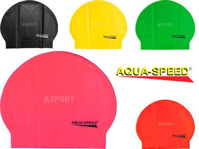 Badekappe aus Latex Badehaube Schwimmhaube Bademütze Kappe  Aqua-Speed