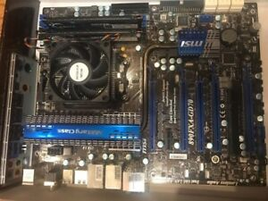 Motherboard MSI + Phenom II 1055t + 12gb ddr3 1333mhz