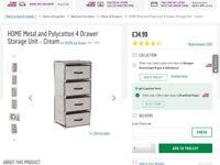 Storage Unit with four drawers