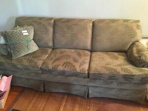 Moss Green Sofa Bed with Matching Chair