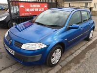 2005 (55) RENAULT MEGANE 1.6, MOT APRIL 2017, WARRANTY, NOT ASTRA GOLF FOCUS CEED NOTE
