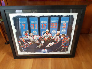 Limited Edition Oilers Framed Print