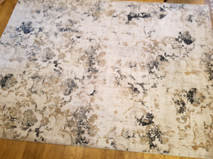 """BRAND NEW area rug-shiny look 6'6"""" x 9ft - 4 available"""