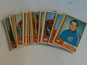 16 CARTES DE HOCKEY O.P.C DES CANADIENS DE MONTRÉAL 1974-75