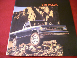 1985 Chevrolet S-10 Pickups sales brochure