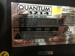 Quantum Garage Door Opener