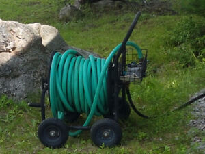Garden Hose and Carriage