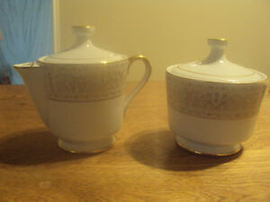 """Wentworth"" Ceramic Creamer & Sugar Bowl-Coffee or Tea"