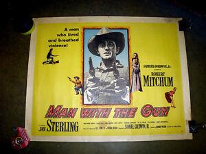 RARE ORIGINAL 1955 COWBOY SHERIFF WESTERN MOVIE THEATER POSTER