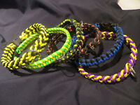 Dog Collars and Leashes Survival Paracord Handmade
