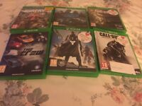 Xbox One games need for speed fallout the crew destiny and call of duty advanced warfare