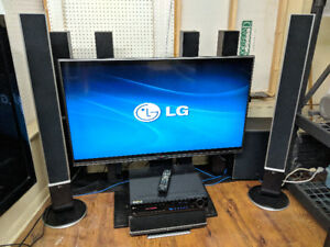 """LG 49"""" LED TV with 5.1 SURROUND and 5-DISC DVD"""