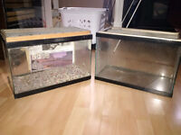2 used fish tanks