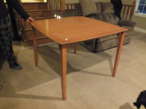 "Wooden Table, study multi purpose 42""square, 31"" tall"