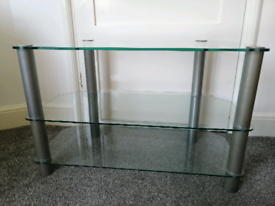 Glass TV stand modern