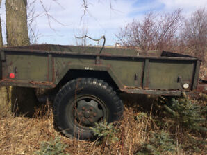 Antique 1952 Fruehauf Army M-104 Cargo Trailer