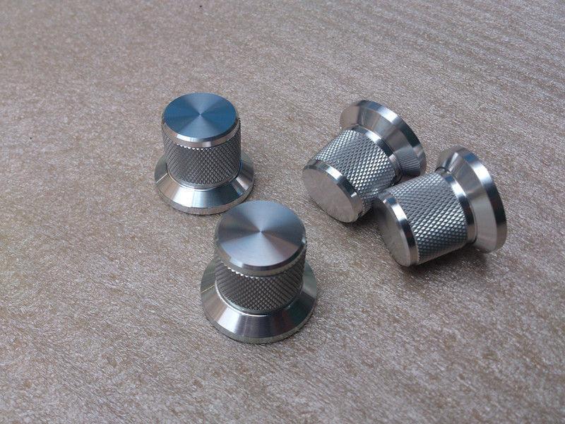 1PCS D30*H25 Knurled full Aluminum Volume knob amplifier knob silver color