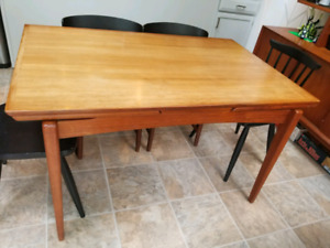 Teak mid century dining table
