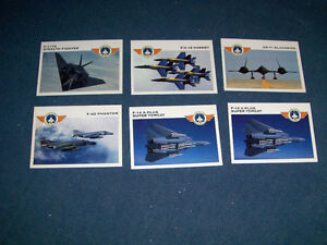 6 FIGHTER JET AIRPLANE CARDS-1992-WINGS OF FIRE-PANINI-VINTAGE
