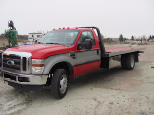 1999 FORD F550 7.3L DIESEL, TILT LOAD & WHEEL LIFT.