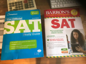 CollegeBoard SAT Study Guide & Barron's SAT Practice Tests