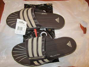 Adidas Men's Superstars Sandals/slippers size 12 for $25 only.