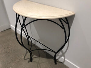 Table- Hallway console. Marble