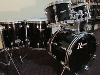 Vintage 1969 Maple Drum Kit, Near Mint.  All Original. Jet Black