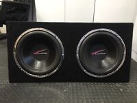 "Dual 15"" Audiobahn Subwoofers"