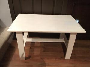 Table melamine laqué blanche