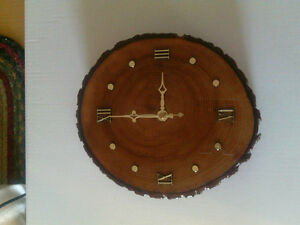 Log slash cut clock