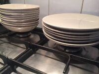 Dinner plate set for 7 people and bowls IKEA
