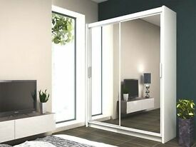 '' CHEAPEST PRICE CHICAGO 2 DOOR SLIDING WARDROBE WITH MIRROR DIFFERENT WIDTH 120 150 180 203 cm'