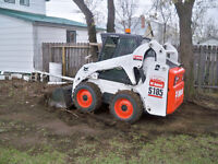 bobcat, mini excavator and dump truck available