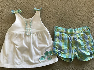 Janie and Jack 3T girls short set