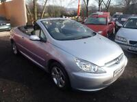 2005 Peugeot 307 CC Cabriolet convertible 2 door Coupe