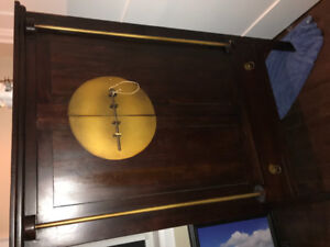 Pier 1 solid wood hutch cabinet