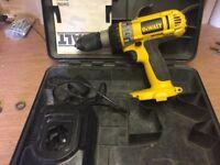 Dewalt drill, No Battery