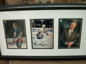 mario lemieux-glen sather and brian trottier autograph Kitchener / Waterloo Kitchener Area image 2
