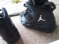 Black Jordan Flight Womans Shoes Great Condition