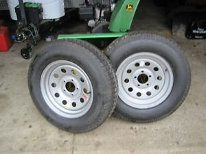 2 New Trailer Wheels And Tires