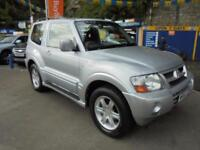 2003 53 MITSUBISHI SHOGUN 3.2 DI-D AUTO WARRIOR SWB IN SILVER # FULL LEATHER #